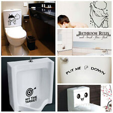 Quality Bathroom Toilet Decoration Seat Art Wall Stickers Decal Home Decor CVCV