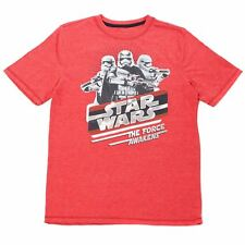 STAR WARS KIDS GRAPHIC TEE COTTON BLEND SIZE 8-20 STORMTROOPER FORCE AWAKENS RED