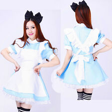 Sexy Alice in Wonderland Halloween Costume French Maid Cosplay Partywear outfits