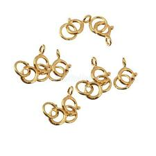 10pcs Sterling Silver Spring Ring Clasp Open Attachment Jewelry Findings Gold