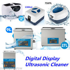 Pro Digital Timer Ultrasonic Cleaner Stainless Steel Tank Jewelry Watch Clean US