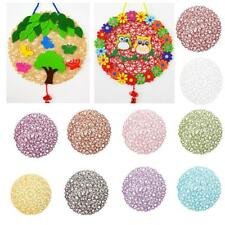 Round Paper Wedding Birthday Xmas Decorations Kids DIY Dinner Table Mat Placemat