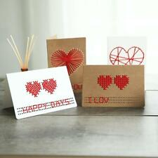 10 Sets Kraft Paper Wedding Party Invitation Heart Greeting Cards Envelope Seals