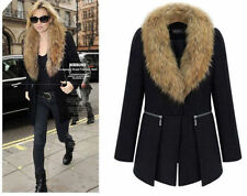 Women's Winter Warm Coat Parka Fur collar Overcoat Jacket Wool jacket 8-14