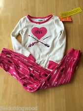 NWT Gymboree Girls Gymmies Cotton Pajamas PJs Set Love SZ  6