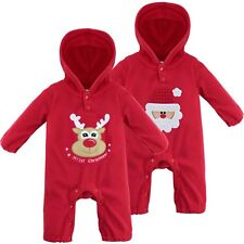 US XMAS SALE Infant Baby Boy Girl Romper Hooded Jumpsuit Bodysuit Outfit Clothes