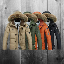 Winter Warm Fur Collar Hooded Parka Thick Down Coat Outwear Down Jacket for Mens