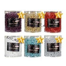 18M GARLAND BEAD CHAIN CHRISTMAS TREE BAUBLES BEADS DECORATIONS
