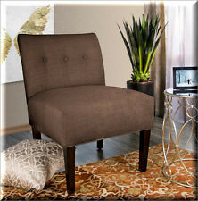Modern Accent Chair Upholstered Fabric Foam Tufted Living Room Bedroom Furniture