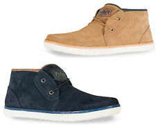 Mens Real Leather Suede Desert Boots Casual Ankle Lace Up Hi Top Trainers Shoes