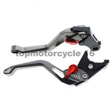 FXCNC 3D Gray Fringe Brake Clutch Levers For Suzuki SV650/SV650S DL650/V-STROM