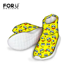 Lovely Emoji Kids Childrens Waterproof Snow Boots Boys Girls Winter Ankle Shoes