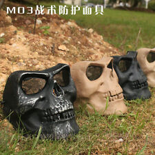 Skeleton Airsoft Mask Paintball Mask BB Gun War Game Skull Face Protector M03SL
