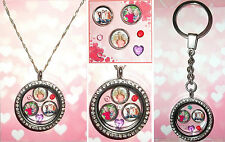 5-7pcs YOUR OWN PHOTO Personalised Custom Living Memory Floating Locket Charms