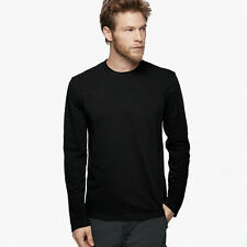 New James Perse Long Sleeve Crew Neck T Shirt - Black