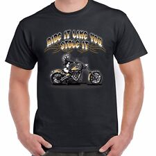 American Motorcycle Bike Biker T shirt Ride Like Stole Kustom Bobber Chopper 50