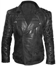 Classic Diamond Brando Leather Jacket Biker Fashion Brando style leather jacket