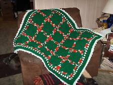 20 Granny  Squa Paddy Green. & Christmas Variegate Patchwork .  Afghan  Throw