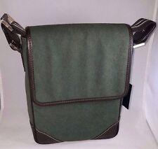 Dunhill Ensign North South Canvas/Leather Moss Green Cross-body Bag NWT