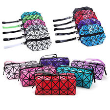 Folding Geometric Wrist Bag Triangle Clutch Women Coin Purses Cosmetic Bag