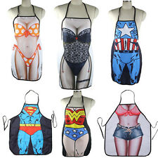 Hot Funny Sexy Naked Women Men Home Kitchen Cooking BBQ Apron Durable CE