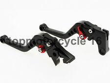 FXCNC CNC Black Short Brake Clutch Lever For Yamaha YZF R1 99-01 YZF R25 2015