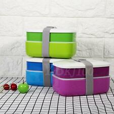 Best Design Lunch Box Bento Double-layer Food Container Set with Chopstick Spoon