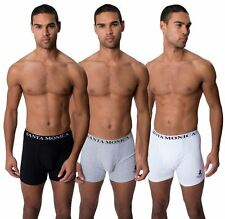 Santa Monica Polo Club Mens 3 Pack Boxers Shorts Branded Waistband Underwear