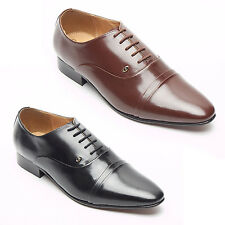 MENS SPANISH 100% LEATHER SHOES DESIGNER SMART PARTY WEDDING SHOES
