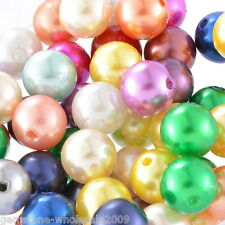 "Wholesale Market Acrylic Spacer Beads Round Ball Mixed 14mm Dia.( 4/8"")"