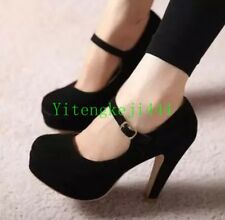 Womens Stilettos High Heel lady Ankle Strap Mary Jane Platform Pump Shoes US SZ