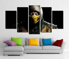 Framed Wall Canvas Art - Mortal Kombat X Scorpion Video Games Canvas Art Print