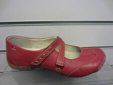 Clarks 'Funky Chime' Ladies Cherry Leather Wedge Heeled Mary Jane Shoes D