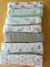 New ADEN AND ANAIS Swaddle Muslin Cotton Blanket clouds Butterfly Elephant