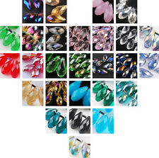 Lots 10/30Pcs 20X10mm Crystal Pendants Teardrop Faceted Glass Beads 34 Colors