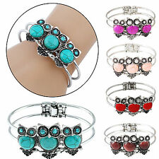 POP Charm Eagle Women Natural Turquoise Cuff Wristband Bangle Bracelet Jewelry