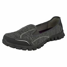 LADIES SKETCHERS SLIP ON TRAINERS IN CHARCOAL - STYLE ENCOUNTER
