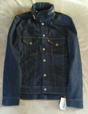 Levis Denim Trucker Jacket Mens Commuter Jean NWT NEW  Dark Wash
