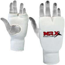 Elasticated Training Karate Mitt / Boxing Mitts / Fist Punching Gloves, White