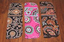 Vera Bradley CAFFE LATTE, CUPCAKES PINK, KENSINGTON Retired Curling Iron Cover