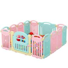 12+2 Indoor and outdoor Large Foldable Plastic Baby Playpen Fence With Family