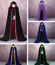 Halloween Costume Fancy Dress Cosplay Gothic Hooded Cloak Wicca Robe Witch Cape