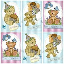 12 Lilypad lane Teddy Set 2 Ideal for Toppers, Embellishments and Card Making
