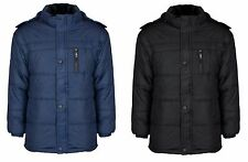 Mens Jacket With Detachable Hood Men Quilted Padded Down Jacket in Size L-XXXL