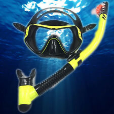 Snorkel Mask Set Adults Diving Gear Single Lens Scuba Goggle Breathing Tube Set