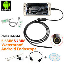 2M/3.5M/5M 6LED Endoscope Borescope Waterproof Inspection Video Camera New YL