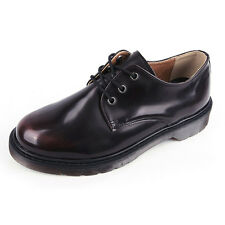 Men's brown round toe eyelet lace up rubber sole combat sole oxfords US7 - US13