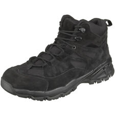 Brandit Outdoor Trail Midcut Boots Suede Leather Hiking Mens Lace Footwear Black