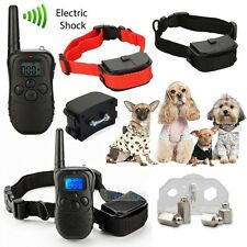 Waterproof Electric Shock Vibra Remote Training Collar Bark Collar for 1-2 Dogs