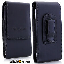 Elastic Leather Belt Pouch Holder Clip Holster Case Cover for Samsung iPhone